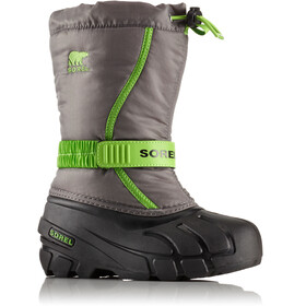 Sorel Flurr Boots Children Quarry/Cyber Green